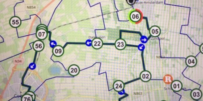 Fietstocht 6 September van 39.6 km Dalen,Coevorden